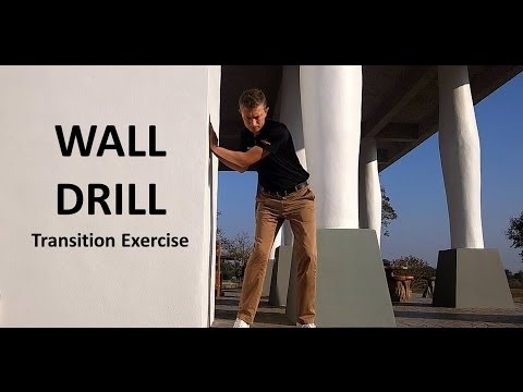 Cure over the top golf swing wall drill